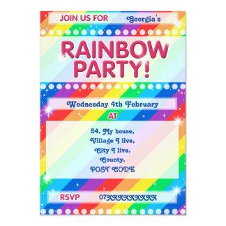 Rainbow Birthday Party Invitation Customisable