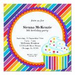 Rainbow Birthday Personalized Invitation