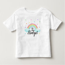 Rainbow Birthday Party T Shirts