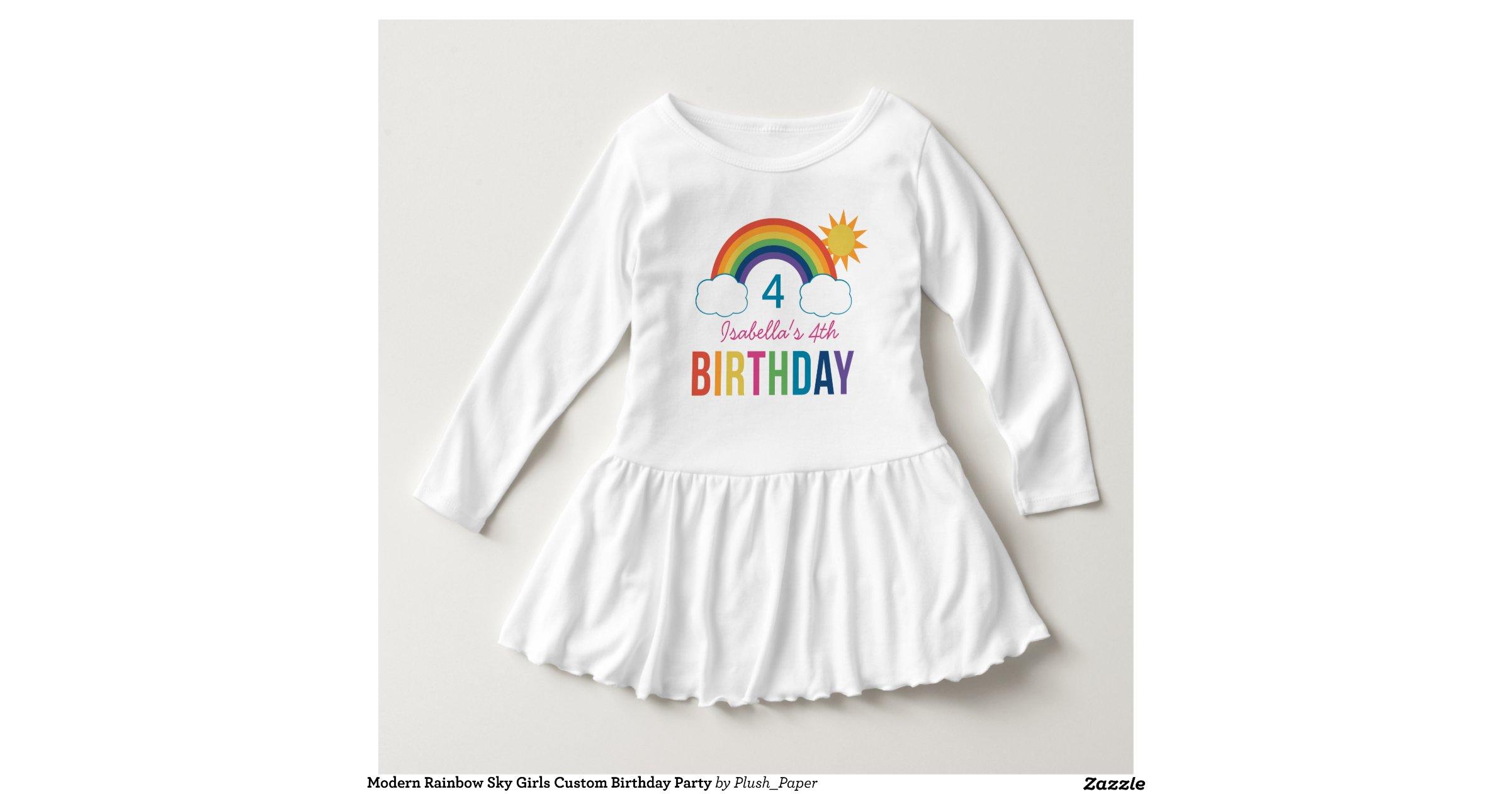 Rainbow birthday shirt custom t shirt design for Zazzle custom t shirts