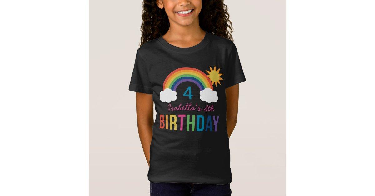 Rainbow Birthday Shirt   Custom T-Shirt Design   Zazzle