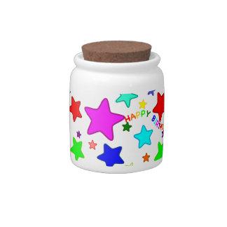 Rainbow Birthday Stars Candy Jar