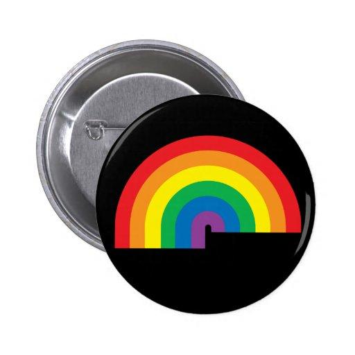 Rainbow Black Button