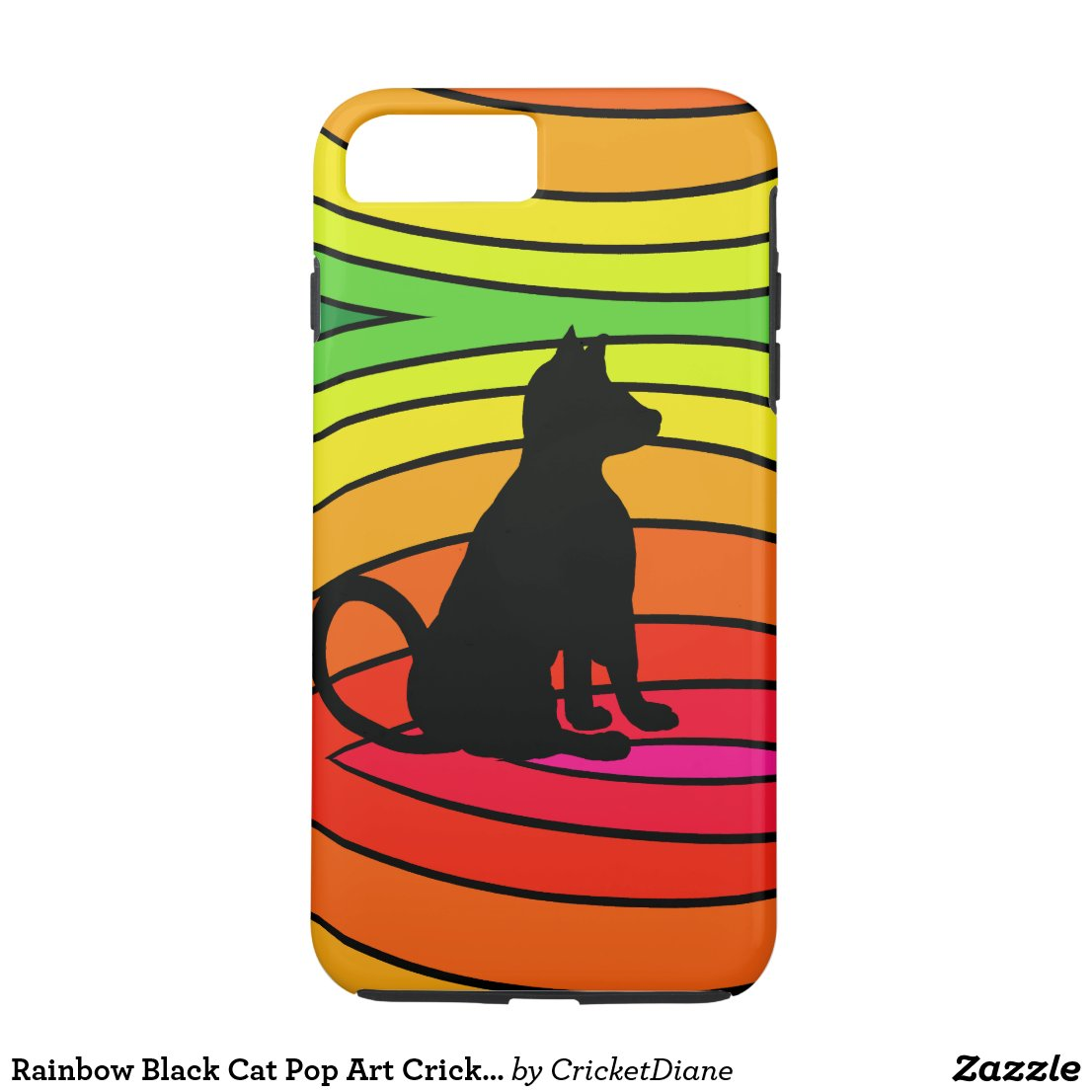 Rainbow Black Cat Pop Art CricketDiane iPhone 8 Plus/7 Plus Case