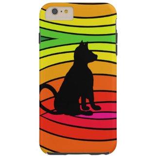 Rainbow Black Cat Pop Art CricketDiane Tough iPhone 6 Plus Case