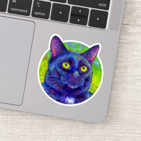 Rainbow Black Cat Vinyl Sticker