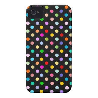 Rainbow & Black Polka Dot pattern iPhone 4 Cover