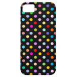Rainbow & Black Polka Dot pattern iPhone 5 Covers