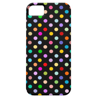 Rainbow & Black Polka Dot pattern iPhone SE/5/5s Case