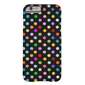 Rainbow Black Polka Dot pattern iPhone 6 Case