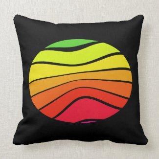 Rainbow Black Pop Art Decor CricketDiane Throw Pillow