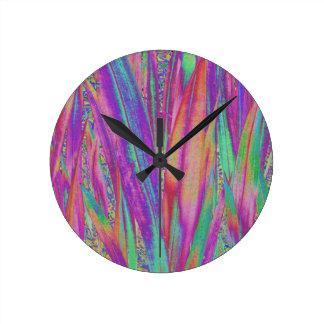 Rainbow Blades Round Clock