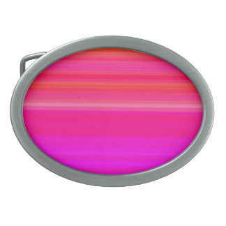 Rainbow Blend in red blue and pink Oval Belt Buckle