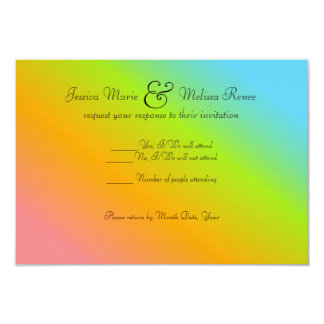 Rainbow Blend - RSVP Card