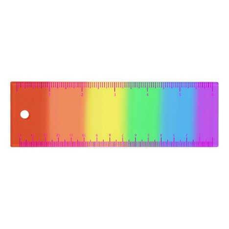 Rainbow Blends Colored Ruler, Choose Size