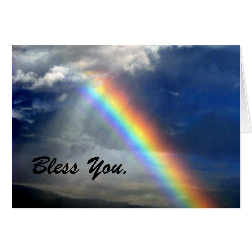 Rainbow Bless You Note Card