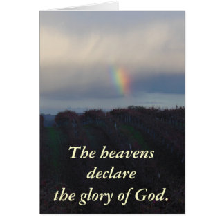 Rainbow Blessing Over Vineyard Greeting Card