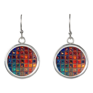 Rainbow Bling | Colorful Mosaic Tile Primary Color Earrings