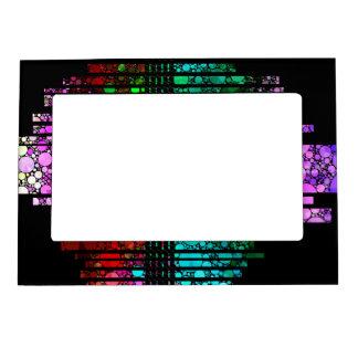 Rainbow Bling Pattern Magnetic Photo Frame