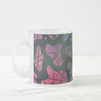Rainbow Blobs - colorful abstract design Frosted Glass Coffee Mug