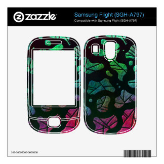 Rainbow Blobs - colorful abstract design Skin For Samsung Flight