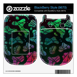 Rainbow Blobs - colorful abstract design BlackBerry Decal
