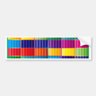 Rainbow Block Bumper Sticker
