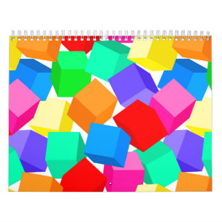 Rainbow blocks calendar