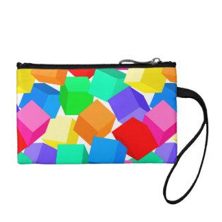 Rainbow blocks change purse