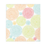 Rainbow Blooms Colorful Pom Doodle Whimsical Girly Notepads
