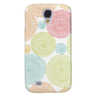 Rainbow Blooms Colorful Pom Doodle Whimsical Girly Samsung S4 Case