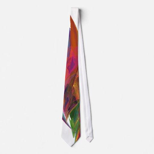 Rainbow Blossom Fractal Tie