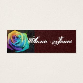 Rainbow Blossoms Petal Art Vine Leaf Peace Destiny Mini Business Card