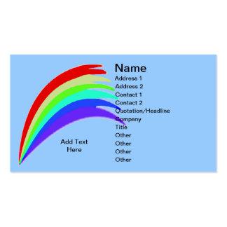 Rainbow Blue Business Card