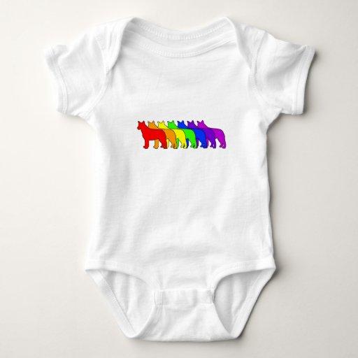 Rainbow Blue Heeler Tee Shirt