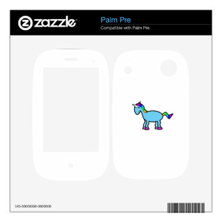 Rainbow blue unicorn skins for palm pre