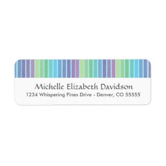 Rainbow Blues Personalized Return Address Labels