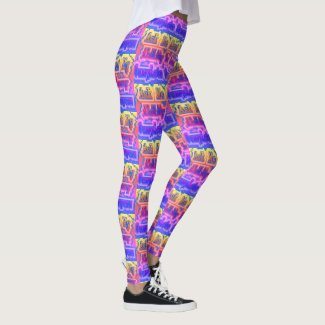 Rainbow Blur Stripe - Ability To Annoy Strangers Leggings
