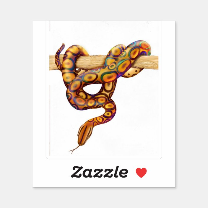 Rainbow Boa Constrictor Snake Contour Sticker Zazzle Com