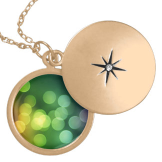 Rainbow Bokeh Gold Plated Necklace