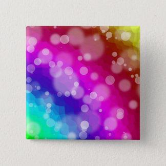 Rainbow Bokeh Pattern Button