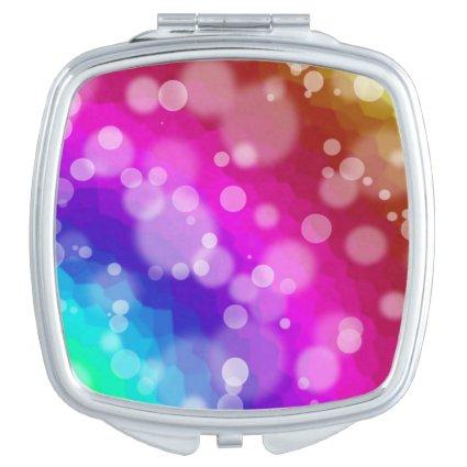 Rainbow Bokeh Pattern Compact Mirror