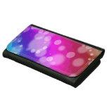 Rainbow Bokeh Pattern Leather Wallet