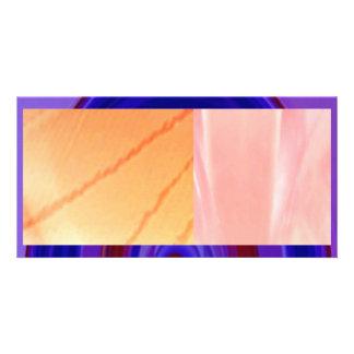 RAINBOW Bold - Royal Blue n Red Photo Card