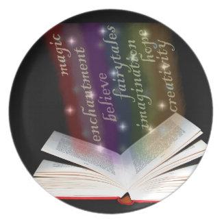 Rainbow Book Knowledge Plate