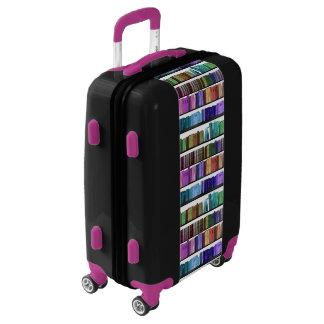 Rainbow Books Bookshelf pattern luggage suitcase
