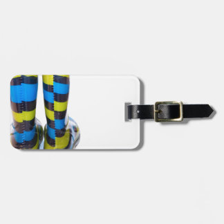 Rainbow Boots Tags For Bags