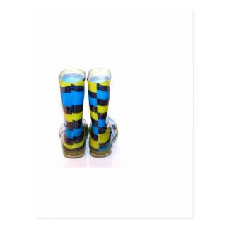 Rainbow Boots Postcard