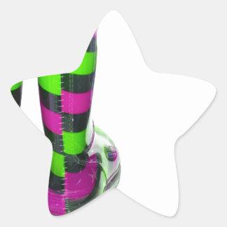Rainbow Boots Star Sticker