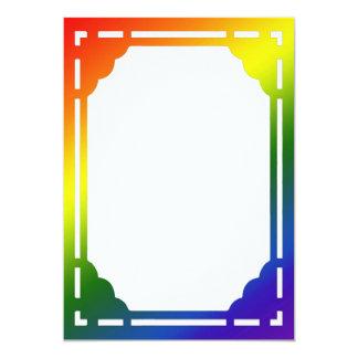 Rainbow Border Invitation